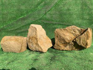 Валун песчаник желтый
