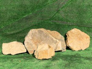 Валун мрамор бело-желтый