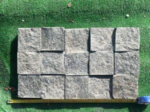 Брусчатка гранитная (габбро) 10*10*5 спил с 4-х сторон