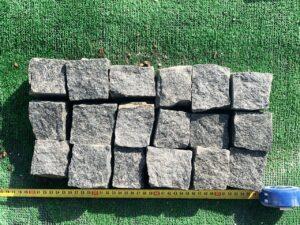 Брусчатка гранитная (габбро) 5*5*5 колотая