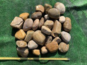 Галька желто-коричневая 60-100 мм